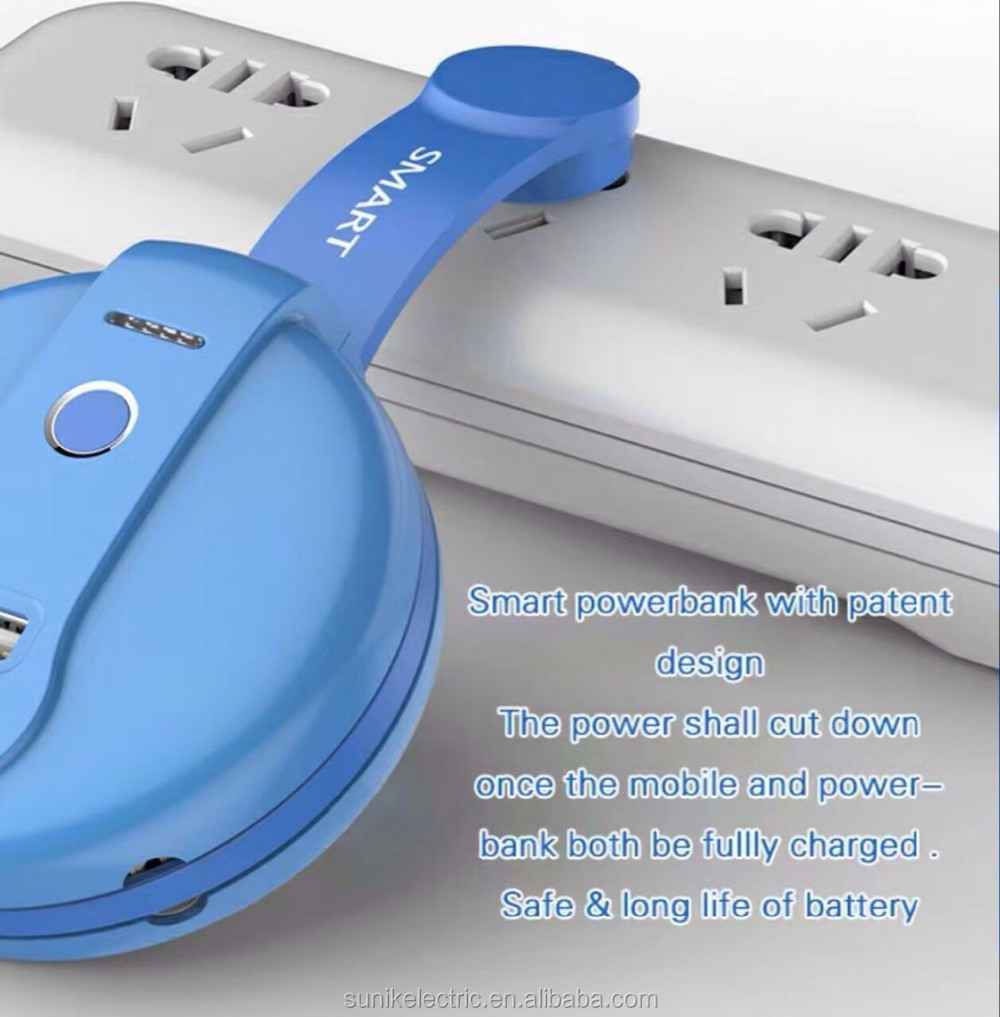 smart powerbank with charger plug function