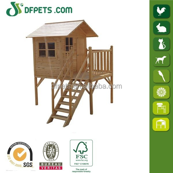 DFPets DFP004 Wooden Kids Playhouse,Wholesale Wood Playhouse