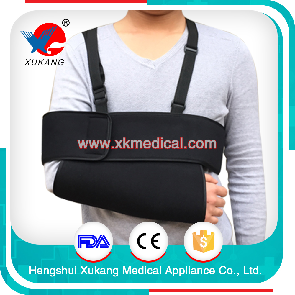 black medical health care shoulder and forearm brace, high quality and lower price arm sling support