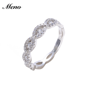 Jewellery Party Aaaa Cz Stone Color 925 Sterling Silver Wedding Rings For Women