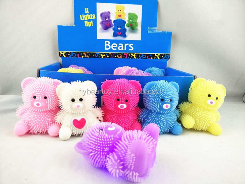 promotional bear Light up heart puffer animal ball puffer cute bear