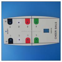 Flat Lexan Membrane Sticker For Medical Equipment