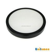 High quality black body 4000K NW SMD 2835 IP44 12W LED light ceiling