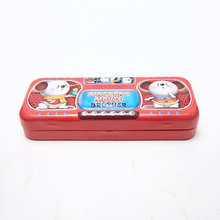 Cute Cartoon Double Pencil Box Stationery Tin Case