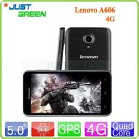Cheapest multi point touch OS Android 4.4 Lenovo A606 Quad Core RAM 512MB/ROM 4GB Front 0.3MP D-sensor for smartphone