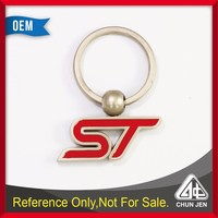 Promotional racing for ST red text attractive key chain