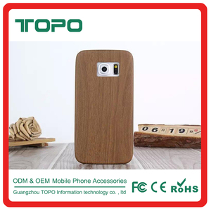 Factory price ultra thin soft TPU protective wood pattern back cover tpu mobile case for Samsung galaxy s6 s6edge