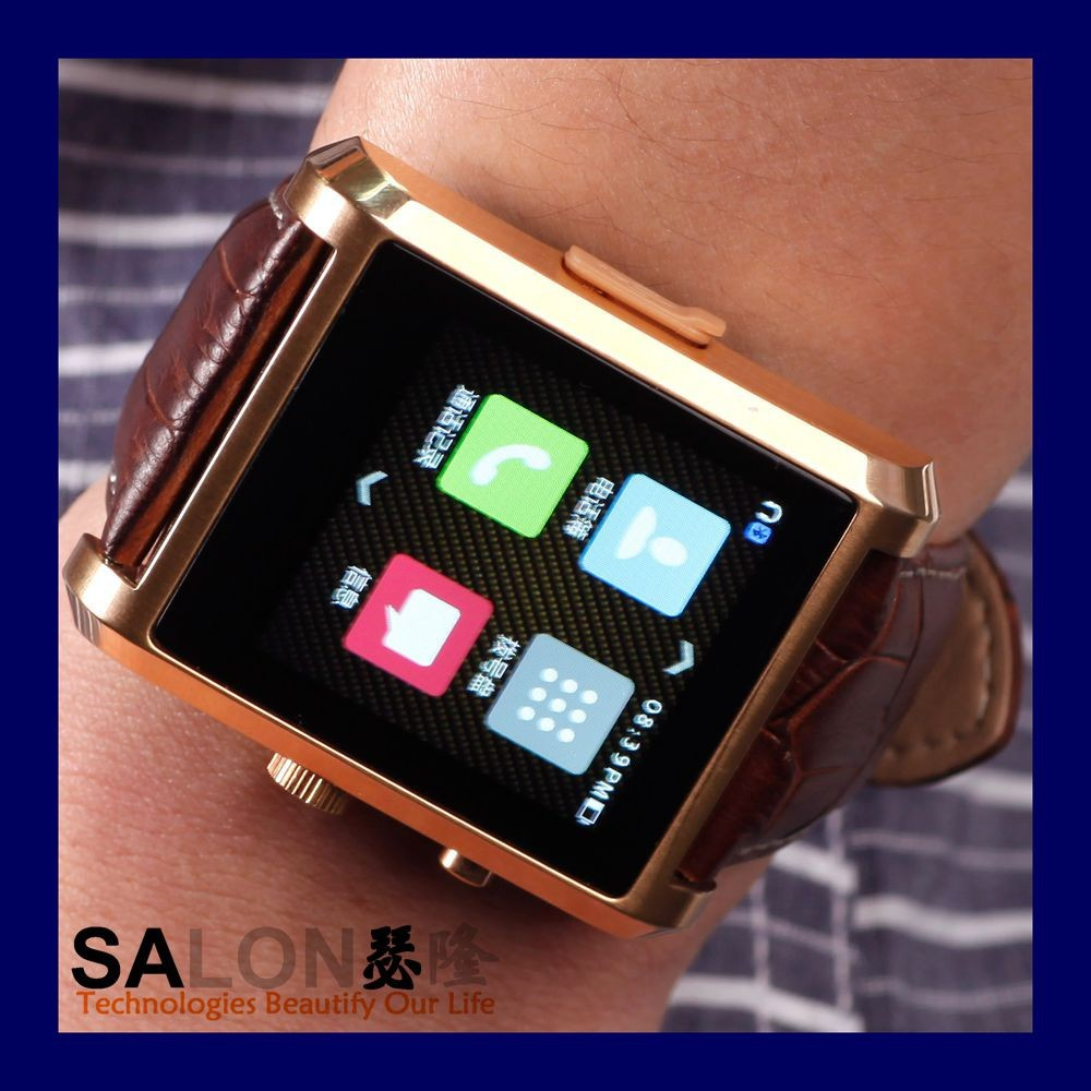2015 New Bluetooth watch sync SMS ,MP3 or MP4 Player phone call Mail for IOS and Android mobile phone