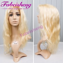 100% human hair total handmade hair wig #613 color 6A good quality top sale Body wave color full lace hair wig
