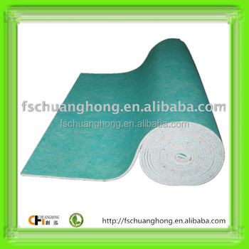PU Foam Carpet Underlay Soundproof flooring by rebonded foam