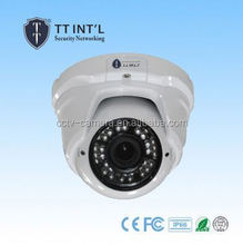 IR Vandalproof Small Dome 720P Indoor AHD Camera with 24pcs IR LED fiber optic security camera