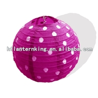 polka dot paper lantern for wedding deco