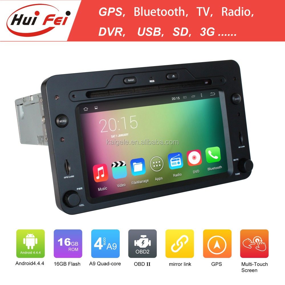 Pure Android 4.4.4 OS Double Din Touch Screen Car DVD For Alfa Romeo 159 Quad-core RK3188