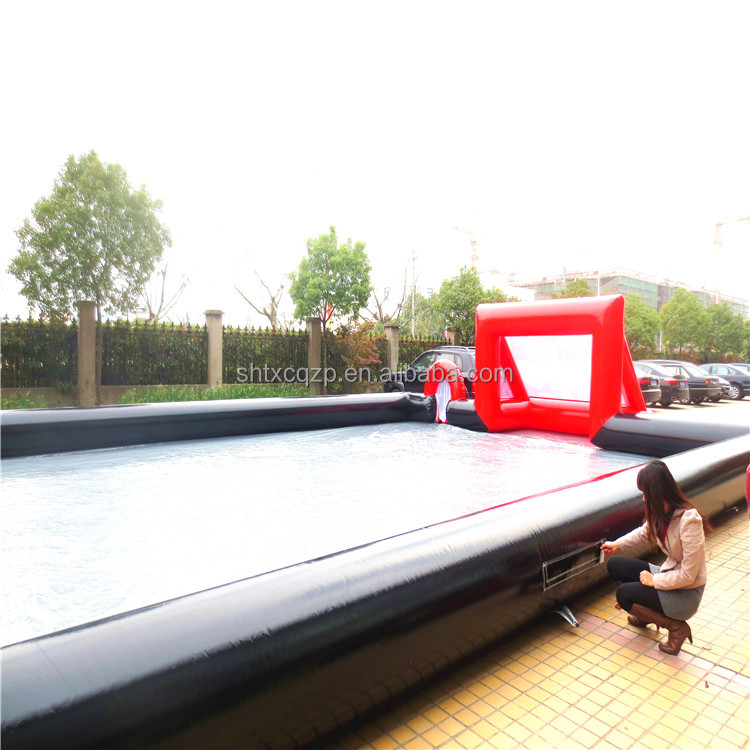 wholesale inflatable soap football pitch