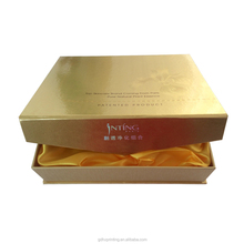 2017 gold paper cardboard cookie gift box for box packaging custom
