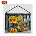 Beautiful Flower Cute Cate LED Non Frame Paintings for Wall Decoration