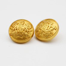 custom metal fancy shank gold military buttons for men's suits