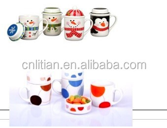 christmas ceramic cups
