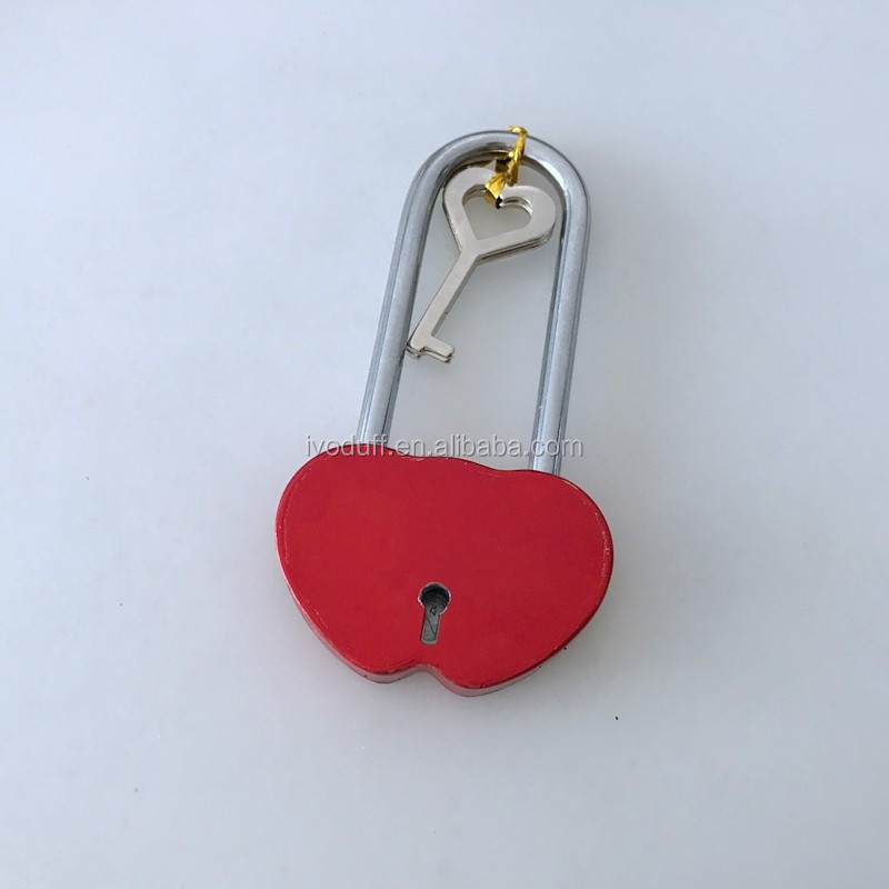 Supply Heart shaped Love Padlock with long shackle
