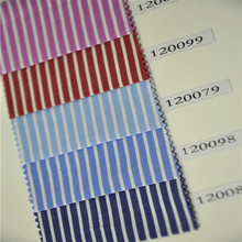 100% cotton yarn dyed colored stripe shirt fabric for man