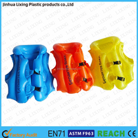 Plastic PVC Inflatable Swim Vest Cartoon