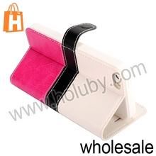 Fashion Two-tone Style For iPhone 5 5S Wallet Flip Stand Leather Case, TPU +Leather Case For iPhone 5 5S Case Cover