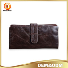 Folding leather long men wallet Unisex Multi-card leather wallet simple Unisex Coin Purse