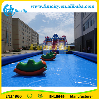 Ocean Animal Theme inflatable Aqua Park with Inflatable Floating Water Totter