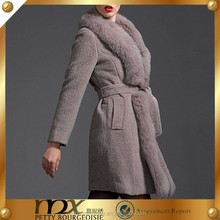The luxury fox wool winter women coat