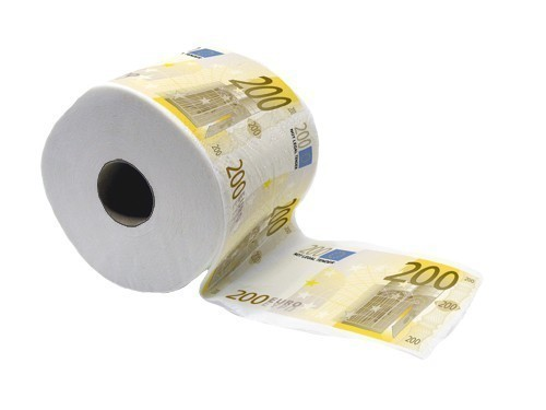 Factory Wholesale Euro Money Bill Printed Toilet Paper
