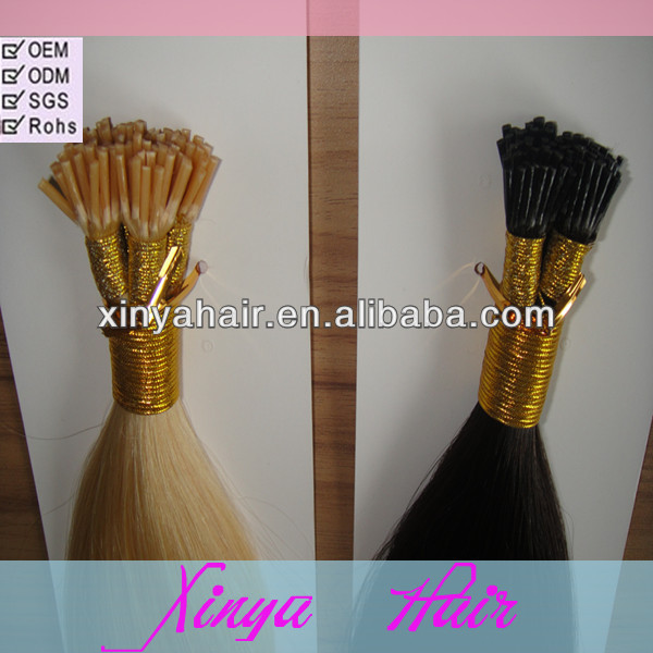 Hot selling Various color 1g/strand stick tip 100% Virgin Indian human i tip hair