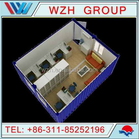 container house with luxuary house design / prebuilt container site office
