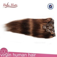 wholesale alibaba hair coffee brown hair color clip in malaysian hair extensions