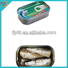 125g oval canned sardine in sunflower oil