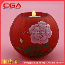 tea light holder glass candle holder for decorate decal flower paper crafts