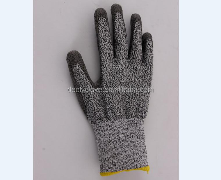 Good Quality Deely HPPE Palm PU Coated Working Safety Cut Resistant <strong>Gloves</strong>