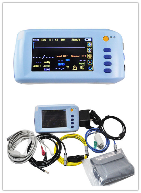 Palm Multi parameter Touch Screen Patient Monitor ECG, NIBP, SPO2, Pulse Rate Temperature parameter