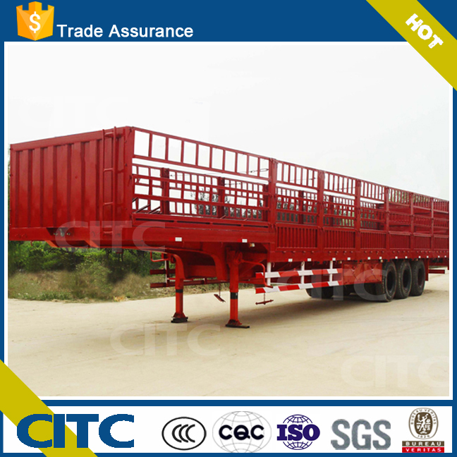 Made In China Agricultural By Products And Pig Transport Semi Fence Trailer