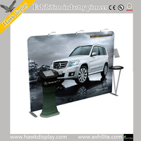 Fabric tube display Tension Fabric Display Banner Stand