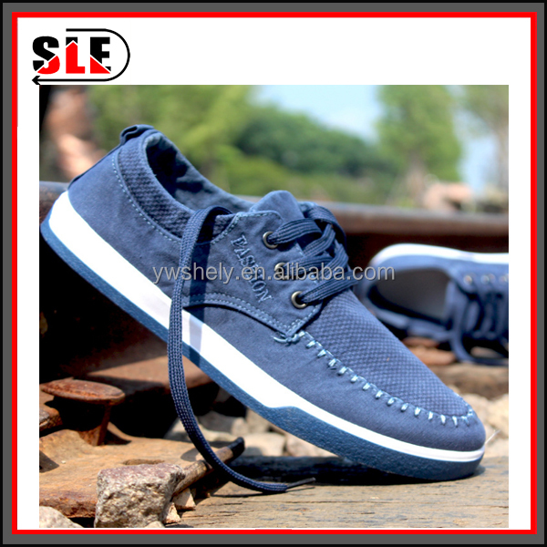 Summer and the kind of men's shoes men washed denim canvas shoes fashion leisure sneakers a undertakes to han edition lace-up