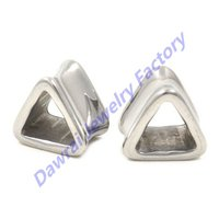DAR 316l Surgical Steel Hollow Triangle Flared Flesh Plugs Tunnel Upper Ear Gauges Stretcher Expander Body Piercing Jewelry