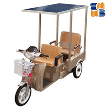 Hot sell three wheel 60V solar electric battery operated tricycle, rickshaw passenger tricycle for India