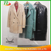 custom cheap clear plastic garment bag,suit cover