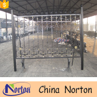 Customized ornamental modern small iron gate design NTIG-192A