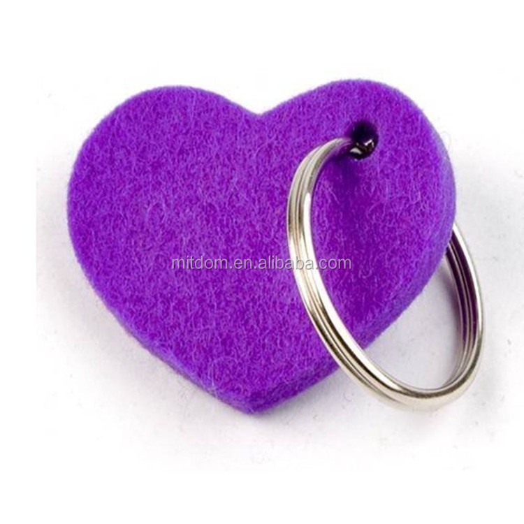 Polyester felt keyring/3mm thinkness felt loop belt strap keychain