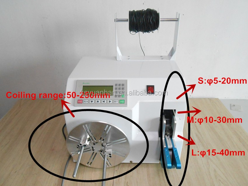 Widely used power cable coil winding machine