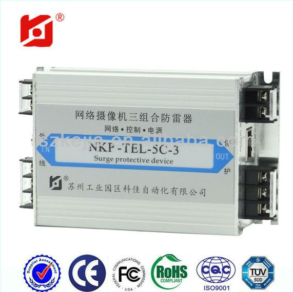 high performance Surge Protector RJ45 interface video camera SPD/Network signal lightning protection device