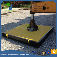 hdpe composite mats system hdpe temporary roadways construction road and work area matting Outrigger Pads
