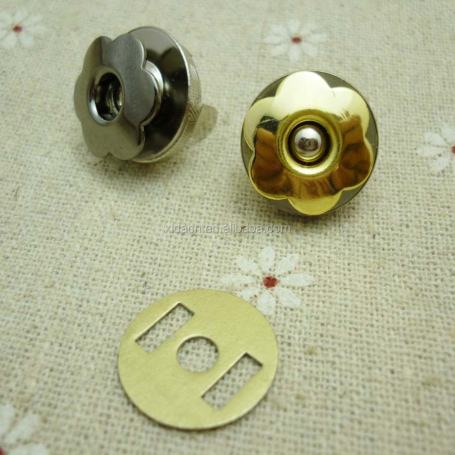 18mm flower shape eyelet magnet snap button for notebooks
