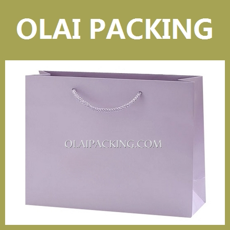 supply high end purple Apparel Paper Bag